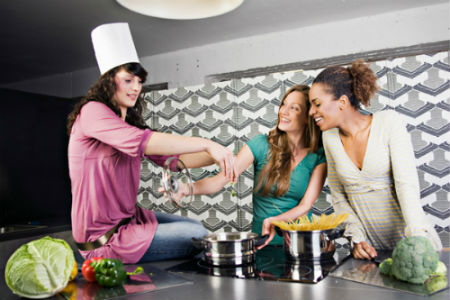 Cooking in Kitchen