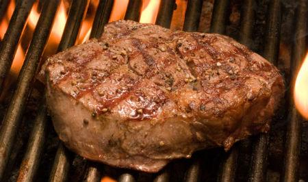 char-grilled steak