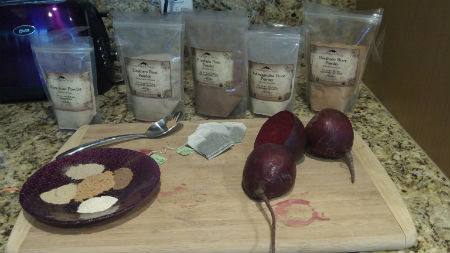 Ingredients for homemade energy drink