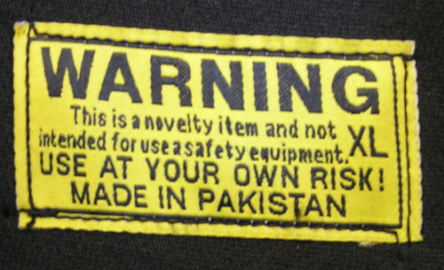 novelty warning