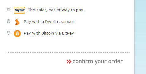 You can now pay with Dwolla and Bitcoin